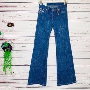 NWT Rare Diesel Brush Stroke Distressed Jeans Sz 8